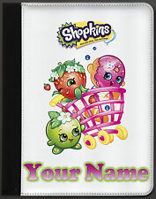 New Shopkins Personalised Name Novelty Faux Leather Folding iPad 1,2,3,4 Case