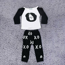 New Toddler Baby Outfits Clothes Feeding Bottle Pattern Tops+Pants 2PCS Set SY