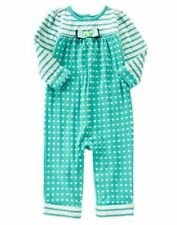 NWT Gymboree Tiny Teal Green Dots and stripes Romper SZ 12 18-24months Toddler