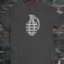 VINTAGE GRENADE ARMY MILITARY SPECIAL FORCES BOMB Mens Charcoal T-Shirt