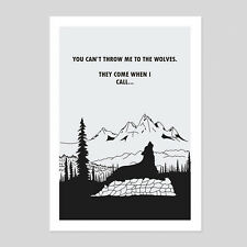 Wolves Wolf Howl Quote Sheep Drawing Sketch Illustration Room House Art Print