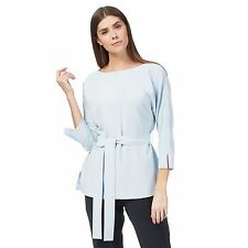 J By Jasper Conran Womens Pale Blue Belted Kimono Top From Debenhams