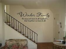 Family name saying we may not have it all together personalized wall art decal