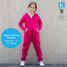SF Kids Jumpsuit Onesie Girls Boys All In One Slim Fit Active Casual Hoodie