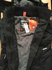 Superdry Women's Hooded Sherpa Quilted Windcheater Jacket Coat RRP£79.99