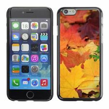 Hard Phone Case Cover Skin For Apple iPhone Autumn leaves cover soil