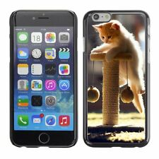 Hard Phone Case Cover Skin For Apple iPhone Hanging playful kitten