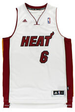 Adidas Lebron James Heat 6 Basketball Jersey White