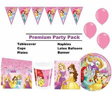 Disney Princess Ariel Belle 8-48 Guest Premium Party Pack Bunting Balloons