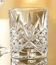 4 vintage crystal whiskey glasses set classic double old fashioned scotch glass - Whiskey Glass Set