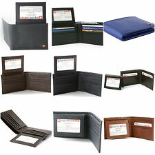 Wallet Alpine Swiss Mens Genuine Leather Removable ID Card Case Bifold Holder