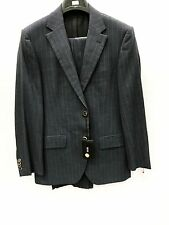 NEW Hugo Boss Mens Suit 100% Wool 2 Button Blue Pinstripe Made In Turkey 36R