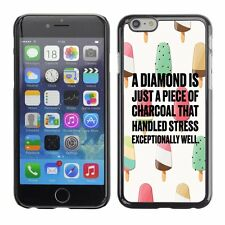 Hard Phone Case Cover Skin For Apple iPhone 79 diamond charcoal ice-cream