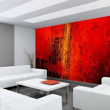 "Fleece Photo Wallpaper ""Paint it Red"" ! Ornaments abstract 3D Wall brown Behind"