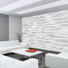 Fleece Photo Wallpaper no. 2869 ! Kunst Design Abstract Waves Pattern white