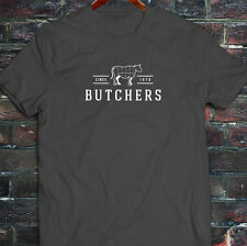 BUTCHERS COW BEEF CARNIVORE MEAT SLAUGHTER FOOD Mens Charcoal T-Shirt