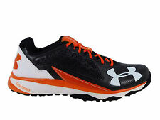 NEW MENS UNDER ARMOUR DECEPTION TRAINER RUNNING SHOES TRAINERS BLACK / ORANGE