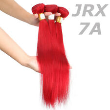 12''-26'' Straight Dyed Red Brazilian 7A Virgin human hair weft Hair Extensions