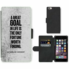 Phone Card Slot PU Leather Wallet Case For Apple iPhone 172 goal Kennedy black w
