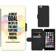 Phone Card Slot PU Leather Wallet Case For Apple iPhone 138 goal Kennedy paint h