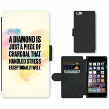 Phone Card Slot PU Leather Wallet Case For Apple iPhone 138 diamond charcoal pai
