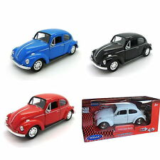 WELLY 1:38 DIE CAST METAL VOLKSWAGEN BEETLE - VW toy car collectible surf beach