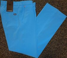 NEW MENS J LINDEBERG TROON Regular Fit Micro Stretch Flat Front Golf PANTS, BLUE
