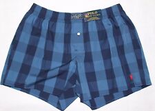 NWT Polo Ralph Lauren Mens Classic Fit Boxers Underwear Red Pony Logo Plaid S