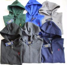 NWT Polo Ralph Lauren Boys Classic Fleece Sweatshirts & Hoodies Zip-Down Pony