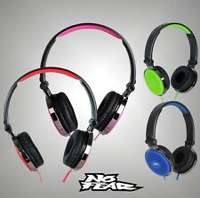Unisex Mens Ladies Branded No Fear Headphones Ear Covers Coloured Accessories