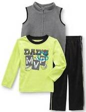 NWT-Boys WonderKids 3 Pc Dads MVP Vest, Shirt & Athletic Pants-24 mths, 3T & 4T