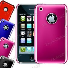 Stylish Fancy Chrome Finish Hard Plastic Back Cover Case For iPhone 3G, 3GS