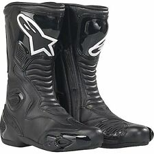 Alpinestars S-MX 5 SMX SMX5 Black Leather Street & Track Motorcycle Boots