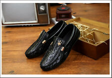 Hot Selling Sneakers Leather Slip on Moccasins Driving Loafer Canvas Mens Shoes