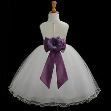 IVORY PAGEANT FLOWER GIRL DRESS TODDLER COMMUNION EASTER 12-18M 2 3T 4 6 8 10 12