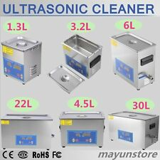 New Stainless Steel Industry Heated Ultrasonic Cleaner with Heater Timer USA