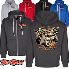 Hotrod 58 American Speed Shop Custom Vintage Classic Car Hoodie zip Jacket 202