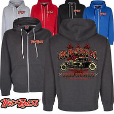 Hotrod 58 American Old Skool Custom Vintage Classic Car Hoodie zip Jacket 201