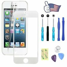 Front Outer Screen Glass Lens Replacement Repair Tools for Apple iPhone 5S White