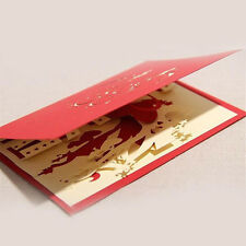 Valentine's  Day Handmade Diy Blessing Creative Cards Greeting Card Paper-cut