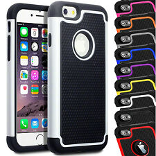 Shock Proof Dual Layer Builders Case Cover For Apple iPhone 8 Plus 7 6s 6 SE 5 X