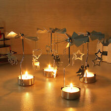 Rotating Rotary Spinning Carrousel Tea Light Candle Holder Home Christmas Decor