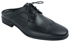 AGOS Mens Leather Mule Slippers Wingtip Oxford Dress Shoes Size 7 8 9 10 11