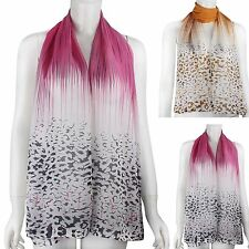 "60"" x 20"" Fashion Long Wrap Women Leopard Shawl Soft Chiffon Scarf Scarves Stole"