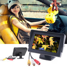 "4.3"" TFT LCD Car Monitor Reverse Rearview Color Camera DVD VCR CCTV TOP #LX"