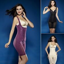 Womens Seamless Full Body Shaper Control Firm Tummy Waist Underbust Cincher Suit