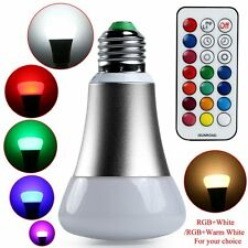 E27 10W RGB Colorful Changing LED Bulb Light Lamp +21 Key Remote Control