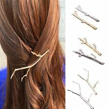 Hair Clips For Women Bobby Pins 2PCS Wedding Hairs Jewelry Metal Leaf Hairpins