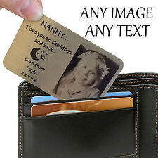 Personalised Aluminium Wallet Card Keepsake Purse Mum Dad Nanny Grandad Photo