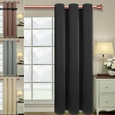 """62""""x51"""" Single Panel Block out Thick Curtains Window Drapes 40mm Ring Hole CESU"""